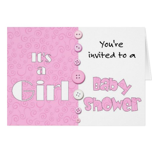 it 39 s a girl you 39 re invited to a baby shower card zazzle