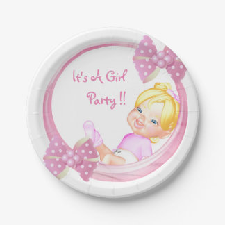 It's a Girls Party Paper Plate