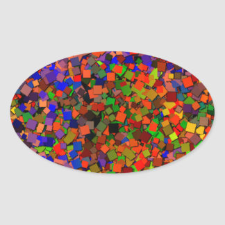 It's a Glitter Party! Oval Sticker