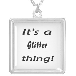 It's a glitter thing! square pendant necklace