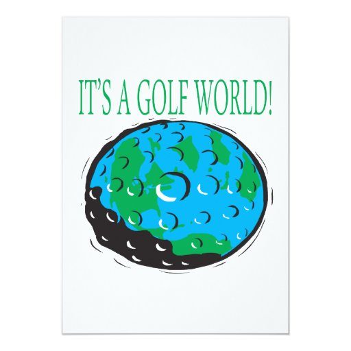 Its A Golf World Personalized Invite