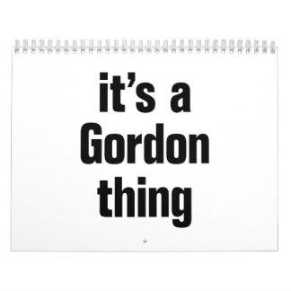 its a gordon thing. calendar