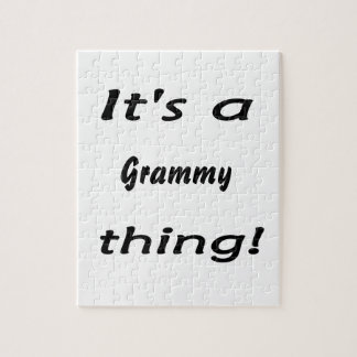 It's a grammy thing! jigsaw puzzle