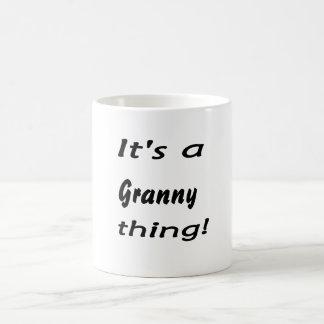 It's a granny thing! classic white coffee mug