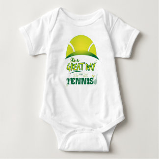 It's a Great Day For Tennis gift for Tennis player Baby Bodysuit