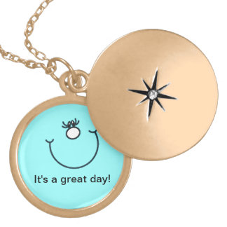 It's a great day! Smiley Face Locket