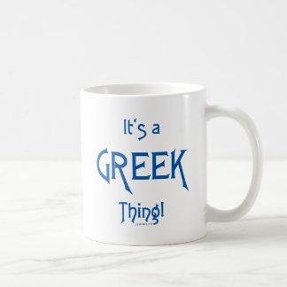 It's a Greek Thing! Classic White Coffee Mug