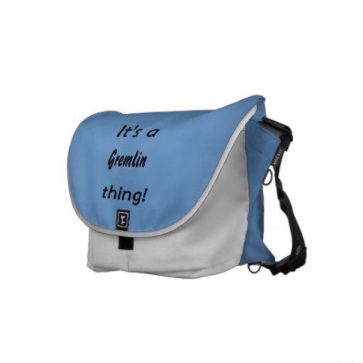 It's a gremlin thing! messenger bags