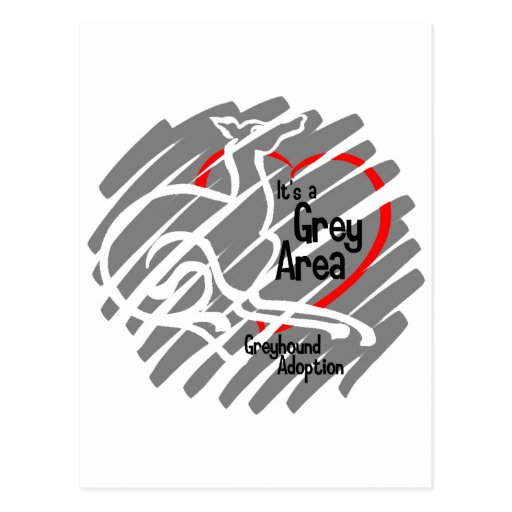 It's a Grey Area squiggle Postcard