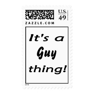 It's a guy thing! stamp