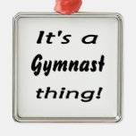It's a gymnast thing! christmas ornaments