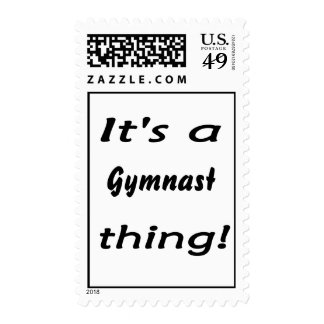 It's a gymnast thing! stamps