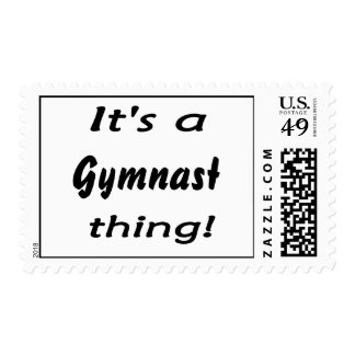 It's a gymnast thing! stamp