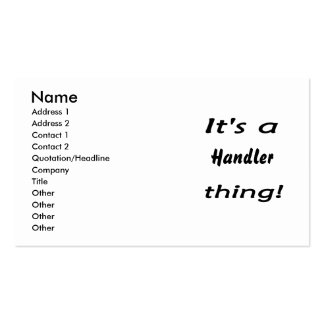 It's a handler thing! Double-Sided standard business cards (Pack of 100)