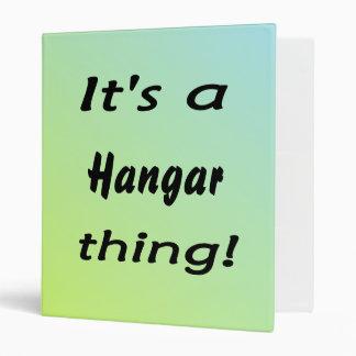 It's a hangar thing! 3 ring binder