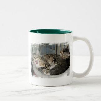 Its A Hard Life Cats Two-Tone Coffee Mug