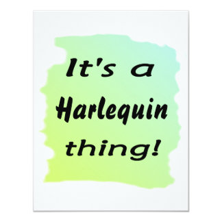 It's a Harlequin thing 4.25x5.5 Paper Invitation Card