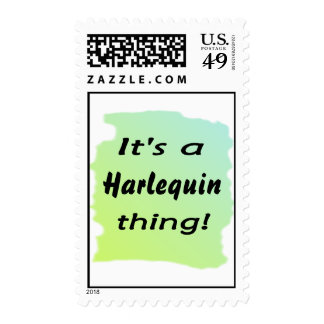It's a Harlequin thing Stamps