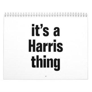 its a harris thing calendar