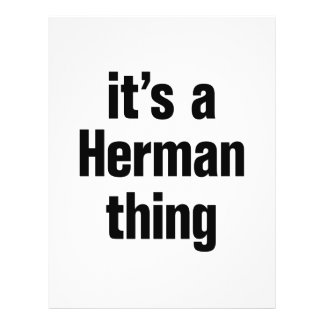 "its a herman thing 8.5"" x 11"" flyer"