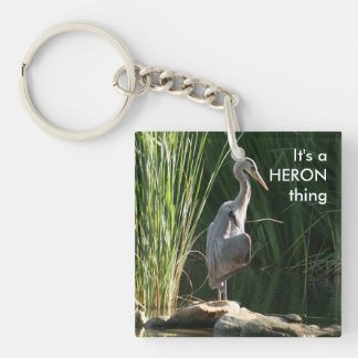 It's a Heron Thing Double-Sided Square Acrylic Keychain