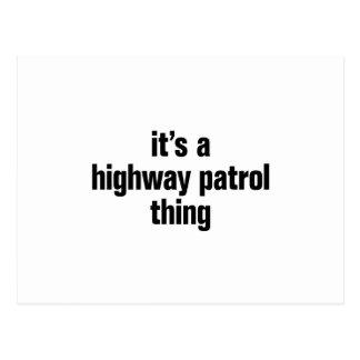 its a highway patrol thing postcard
