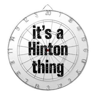 its a hinton thing dartboard with darts