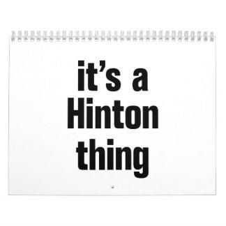 its a hinton thing calendar