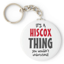 It's a Hiscox thing you wouldn't understand! Keychain