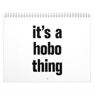 its a hobo thing calendar