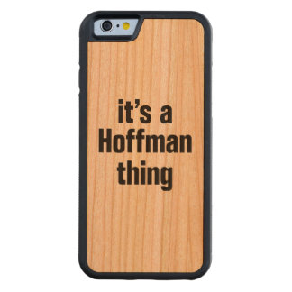 its a hoffman thing carved® cherry iPhone 6 bumper