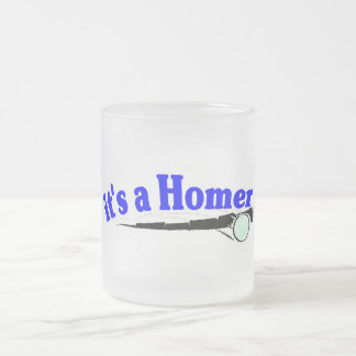 It's A Homer 10 Oz Frosted Glass Coffee Mug