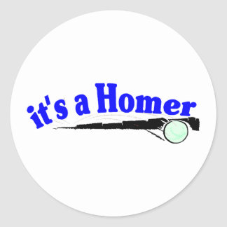 It's A Homer Classic Round Sticker