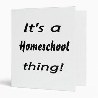 It's a homeschool thing! 3 ring binder