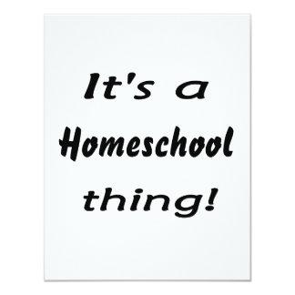 "It's a homeschool thing! 4.25"" x 5.5"" invitation card"