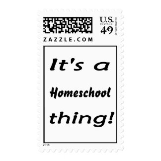 It's a homeschool thing! postage stamp