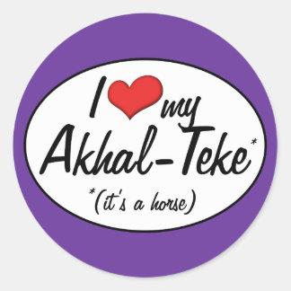 It's a Horse! I Love My Akhal-Teke Classic Round Sticker