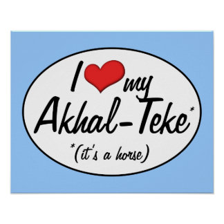 It's a Horse! I Love My Akhal-Teke Poster