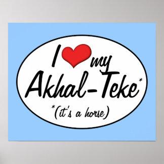 It's a Horse! I Love My Akhal-Teke Poster