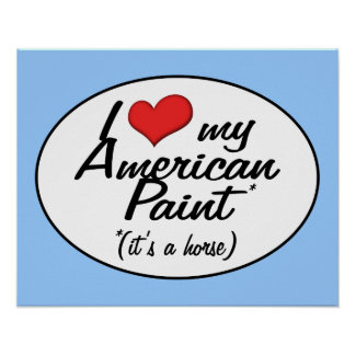 It's a Horse! I Love My American Paint Print