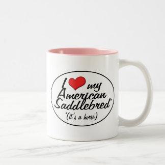 It's a Horse! I Love My American Saddlebred Two-Tone Coffee Mug