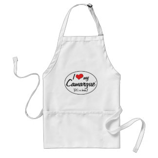 It's a Horse! I Love My Camargue Adult Apron