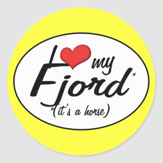 It's a Horse! I Love My Fjord Classic Round Sticker