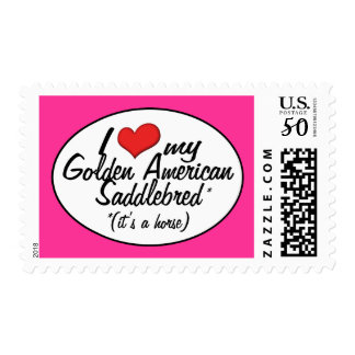 It's a Horse! I Love My Golden American Saddlebred Postage