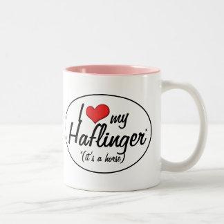 It's a Horse! I Love My Haflinger Two-Tone Coffee Mug