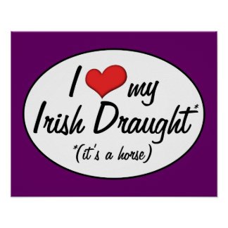 It's a Horse! I Love My Irish Draught Posters