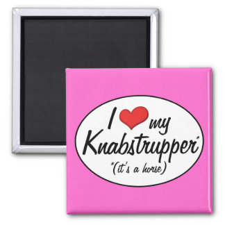 It's a Horse! I Love My Knabstrupper 2 Inch Square Magnet