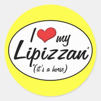It's a Horse! I Love My Lipizzan Classic Round Sticker