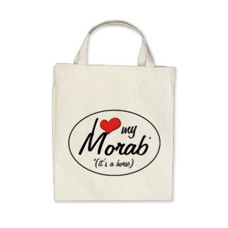 It's a Horse! I Love My Morab Tote Bags