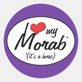 It's a Horse! I Love My Morab Classic Round Sticker